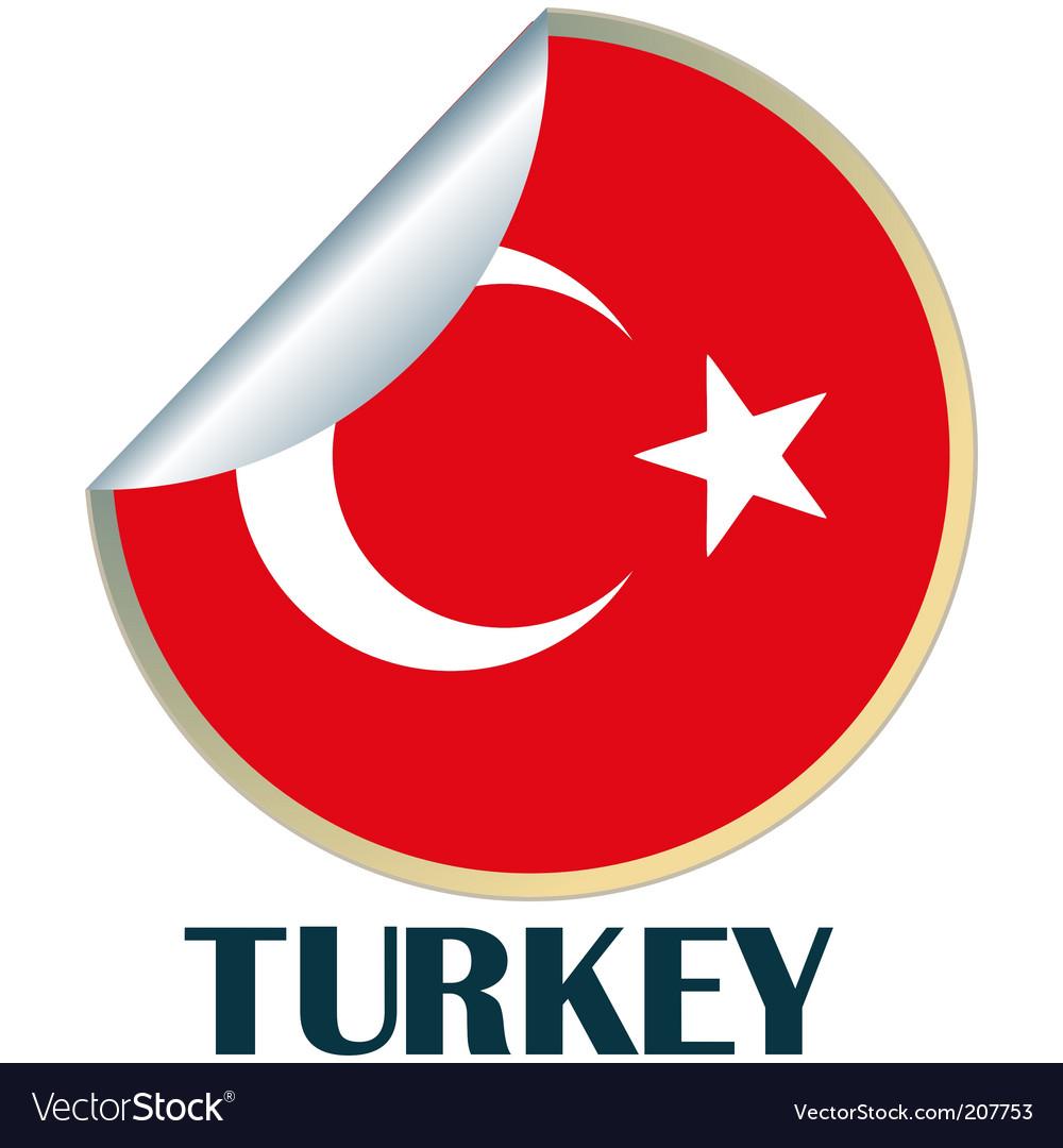Turkey sticker vector | Price: 1 Credit (USD $1)