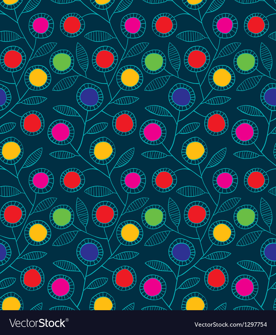Abstract colorful floral seamless background vector | Price: 1 Credit (USD $1)