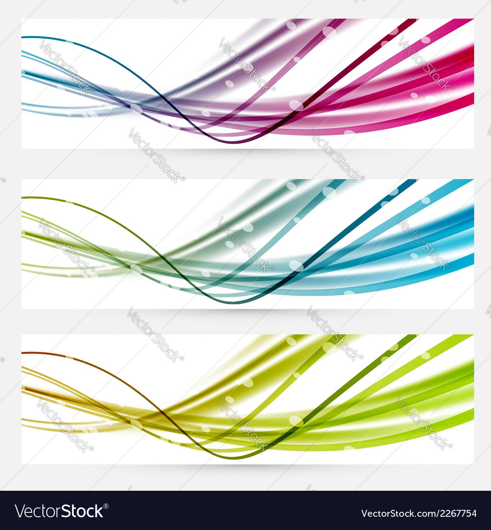 Abstract line bright web banners headers vector | Price: 1 Credit (USD $1)
