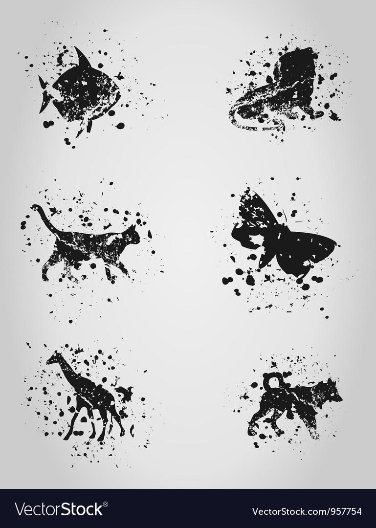 Animal a blot vector   Price: 1 Credit (USD $1)
