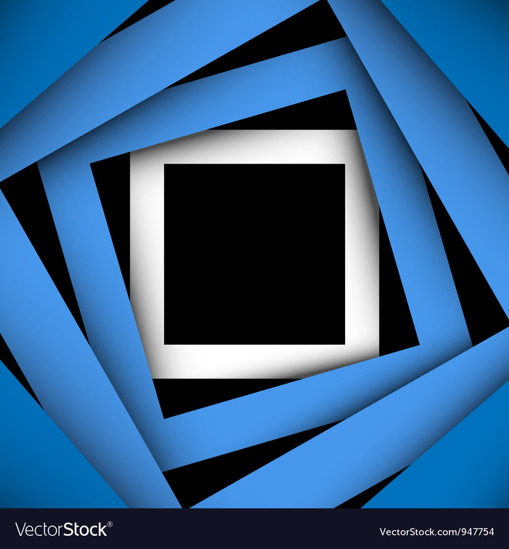 Blue paper square and frame background vector | Price: 1 Credit (USD $1)