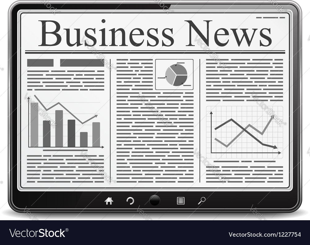 Business news vector | Price: 1 Credit (USD $1)