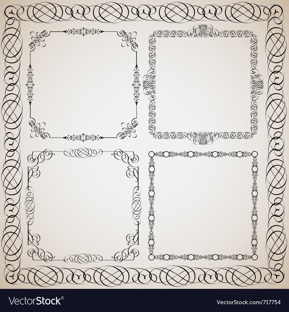 Calligraphy frame vector | Price: 1 Credit (USD $1)