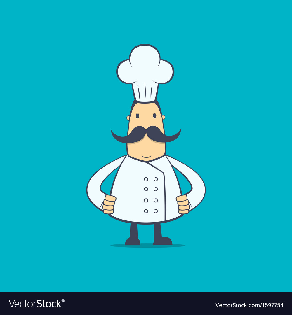 Chef in various poses vector | Price: 1 Credit (USD $1)