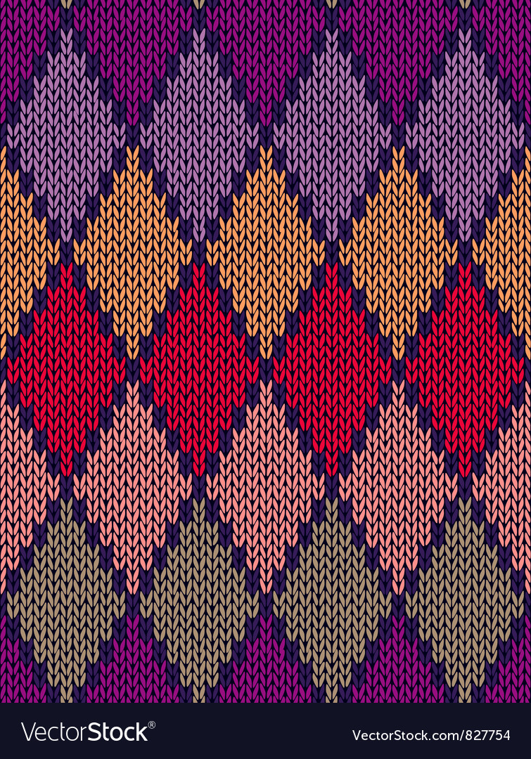 Color knitted pattern vector | Price: 1 Credit (USD $1)
