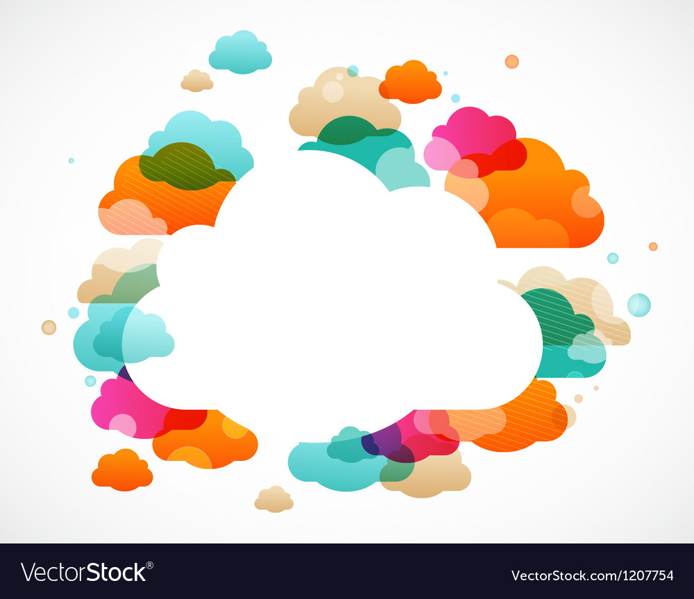 Colorful clouds - abstract background vector | Price: 1 Credit (USD $1)