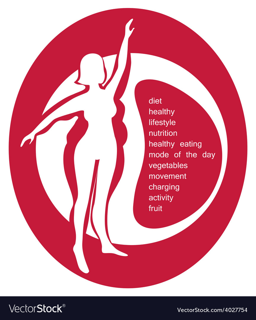 Conceptual - a healthy lifestyle vector | Price: 1 Credit (USD $1)