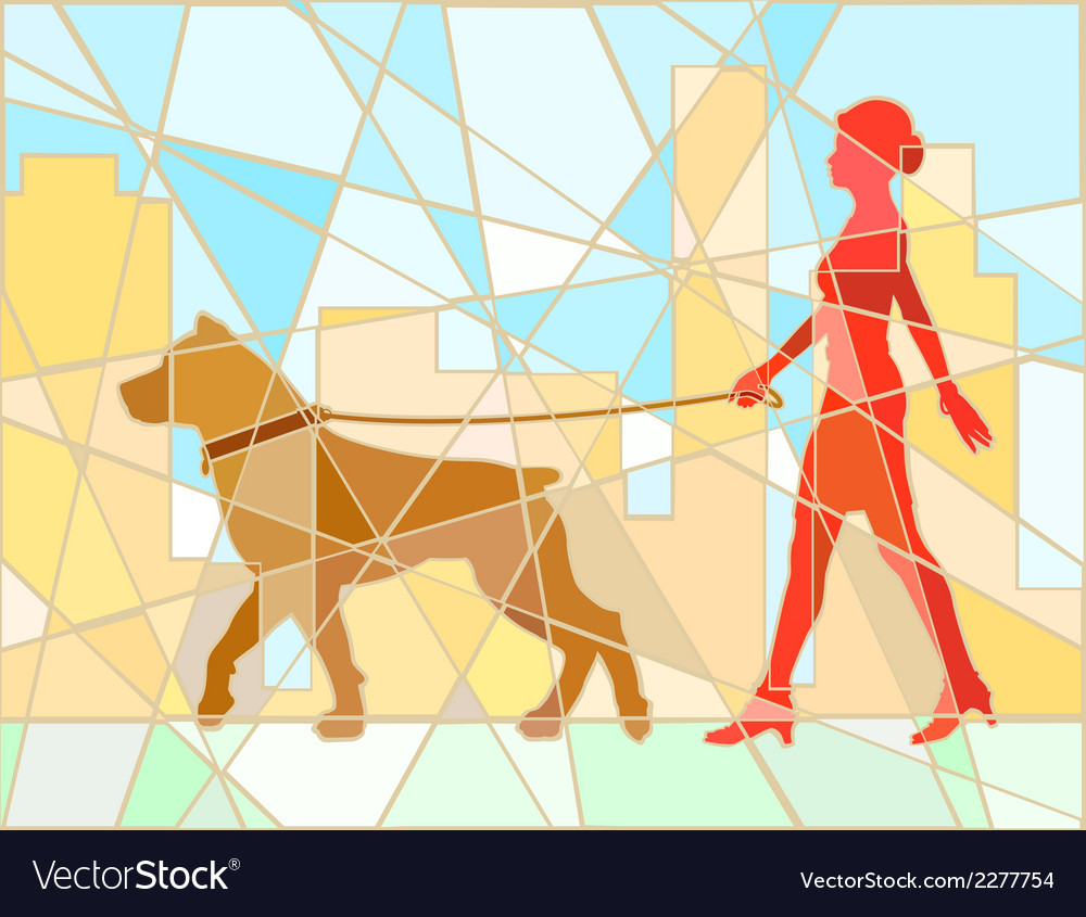 Dog walker mosaic vector | Price: 1 Credit (USD $1)