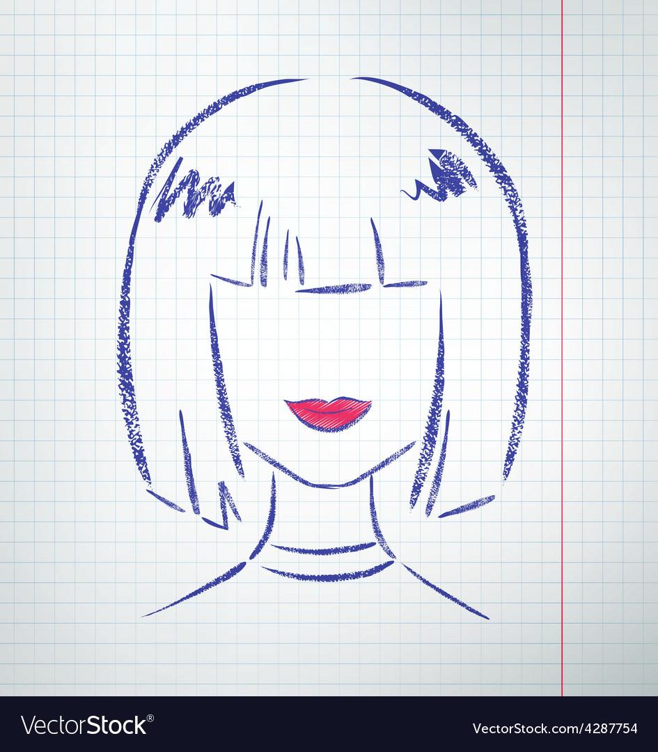 Female avatar vector   Price: 1 Credit (USD $1)