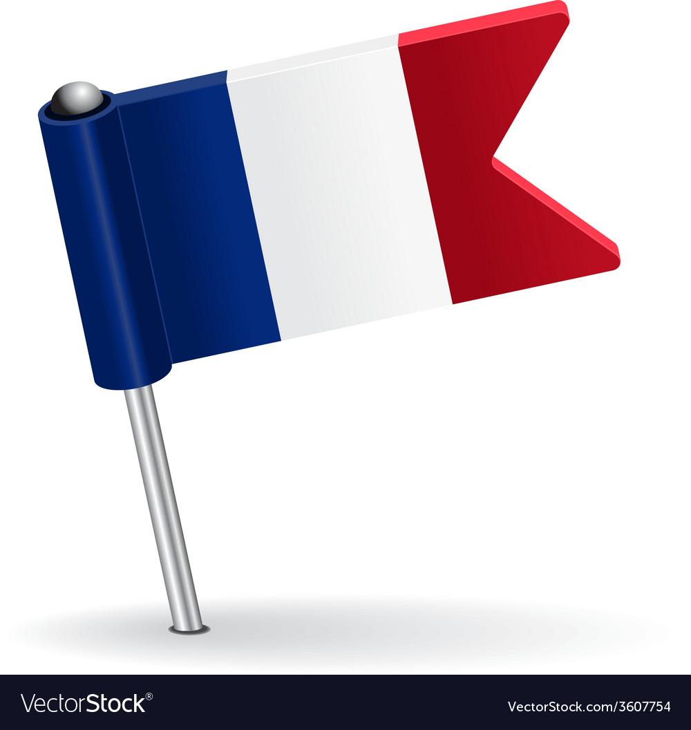 French pin icon flag vector | Price: 1 Credit (USD $1)