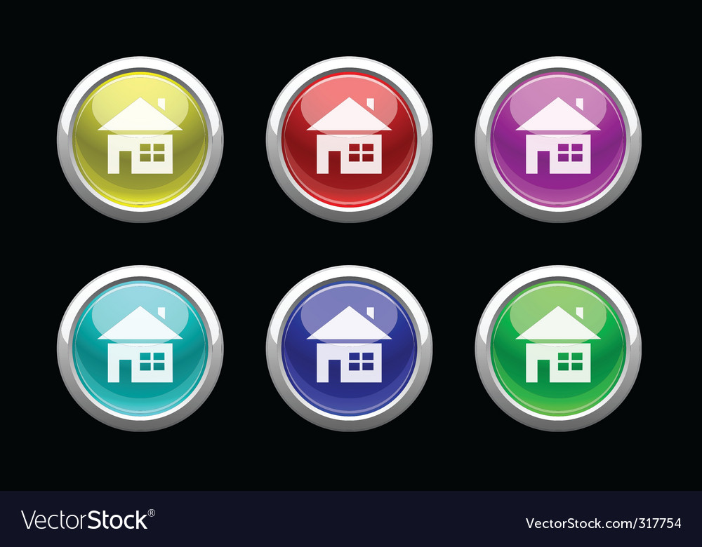 Home buttons vector | Price: 3 Credit (USD $3)