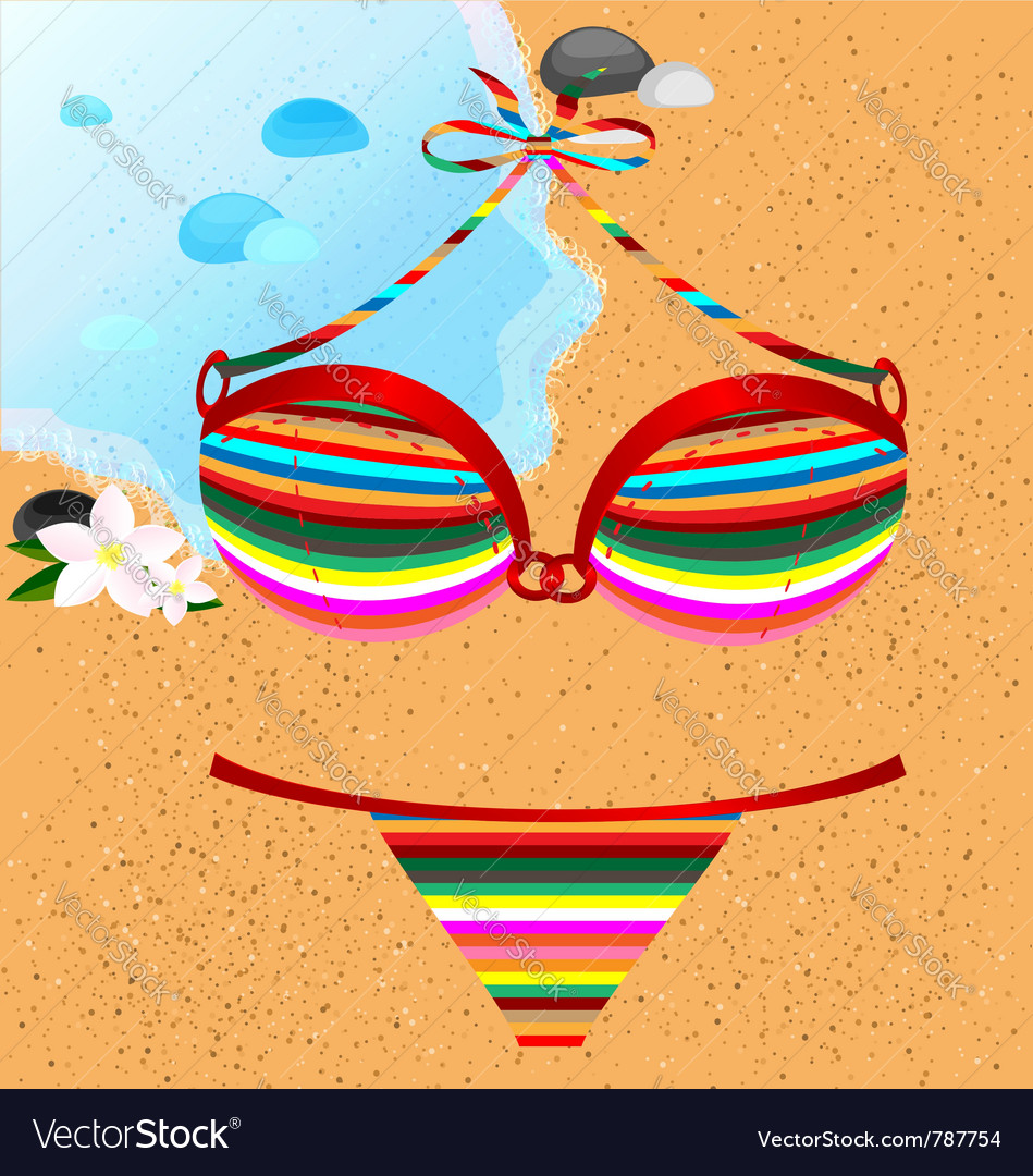 Many-colored swimsuit vector | Price: 1 Credit (USD $1)