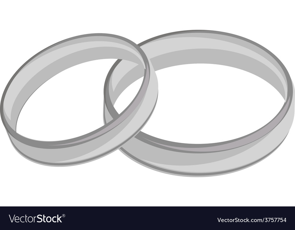 Silver wedding rings vector | Price: 1 Credit (USD $1)