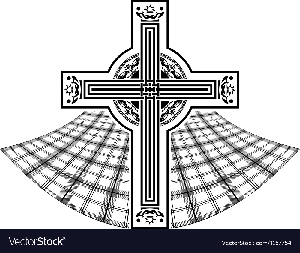 Stencil of scottish celtic cross vector | Price: 1 Credit (USD $1)