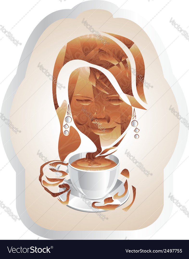 A cup of cappuccino vector | Price: 1 Credit (USD $1)