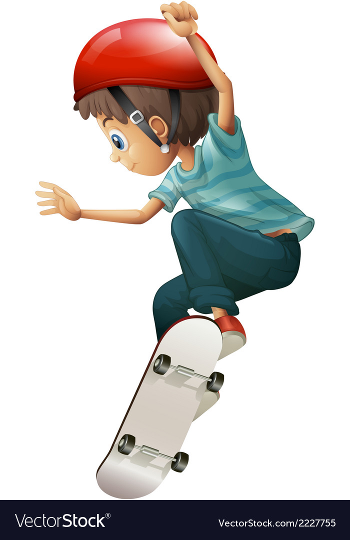 A young gentleman skateboarding vector | Price: 1 Credit (USD $1)