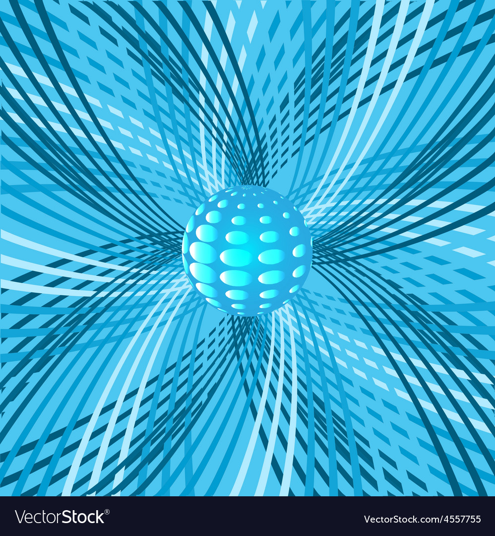 Abstract background with sphere and rotating vector