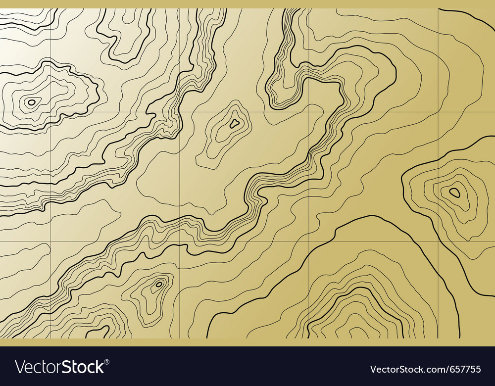 Abstract topographic map in brown colors vector | Price: 1 Credit (USD $1)