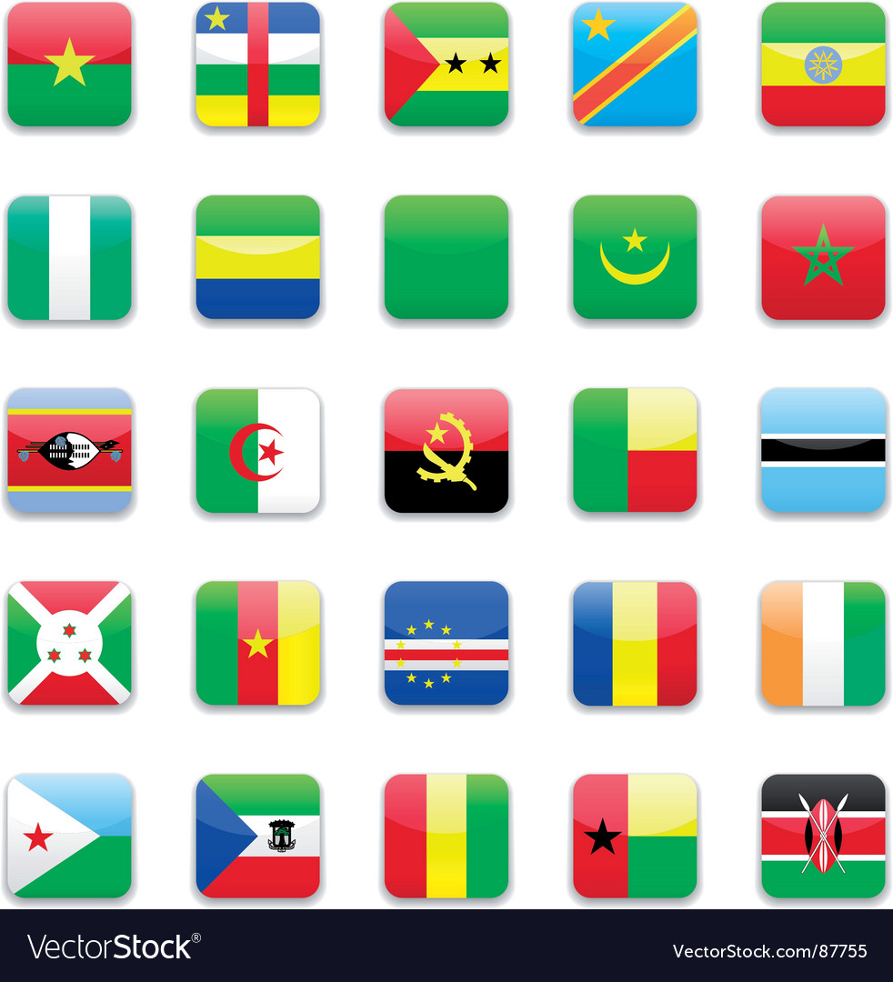 Africa flag vector | Price: 1 Credit (USD $1)