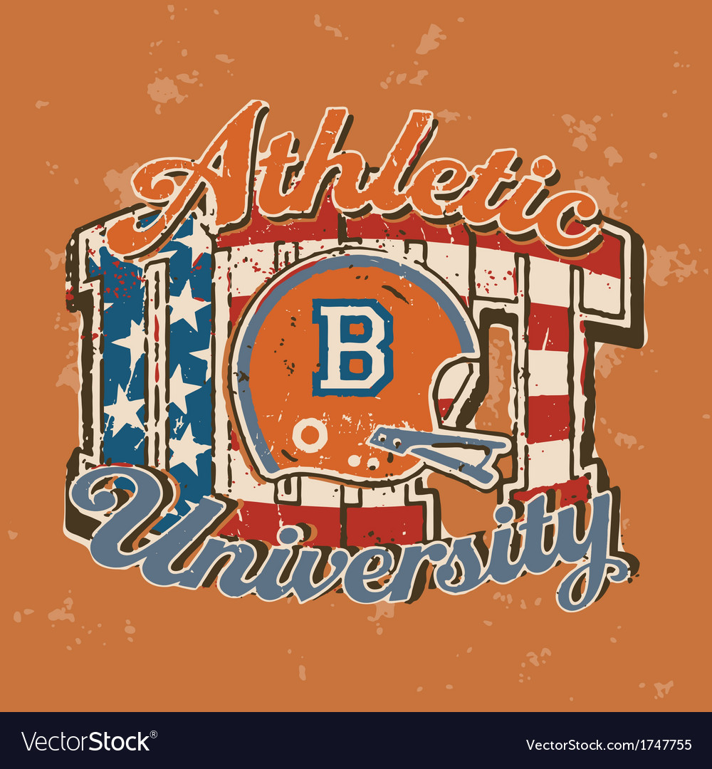 American football university athletic department vector | Price: 1 Credit (USD $1)