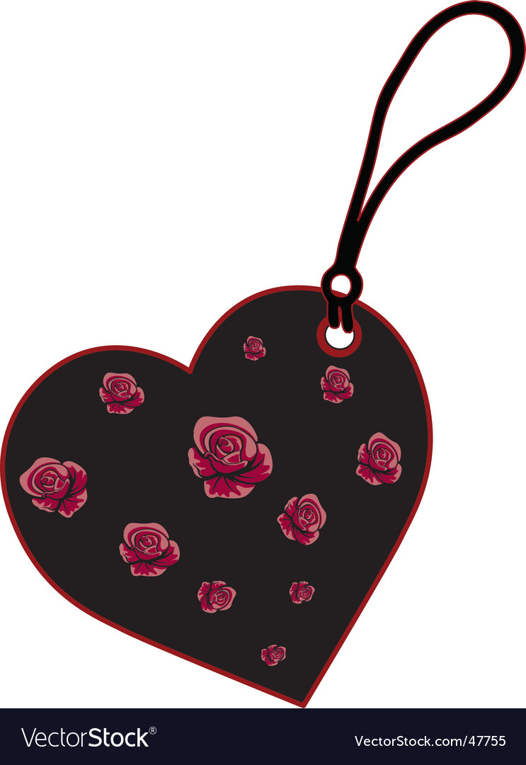 Charm heart vector | Price: 1 Credit (USD $1)