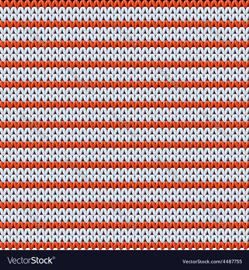 Detailed knitted striped red-and-white pattern vector | Price: 1 Credit (USD $1)