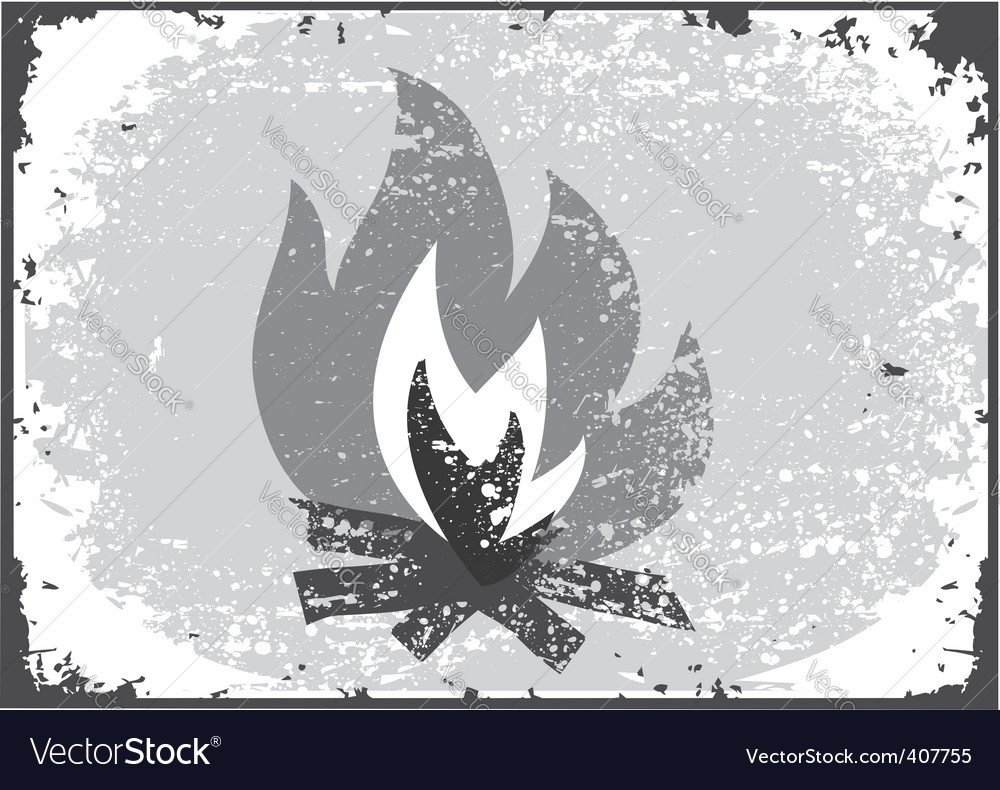 Fire silhouette vector | Price: 1 Credit (USD $1)