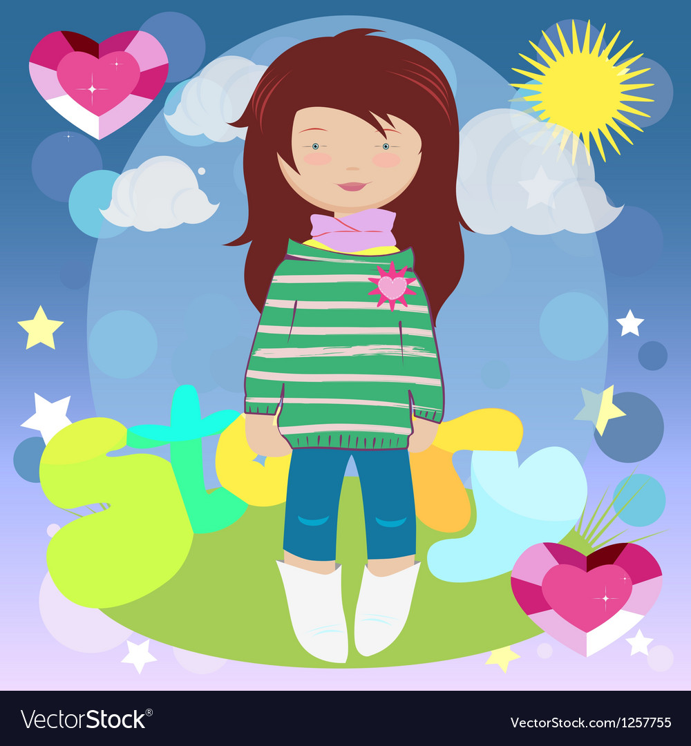 Girl story vector | Price: 1 Credit (USD $1)