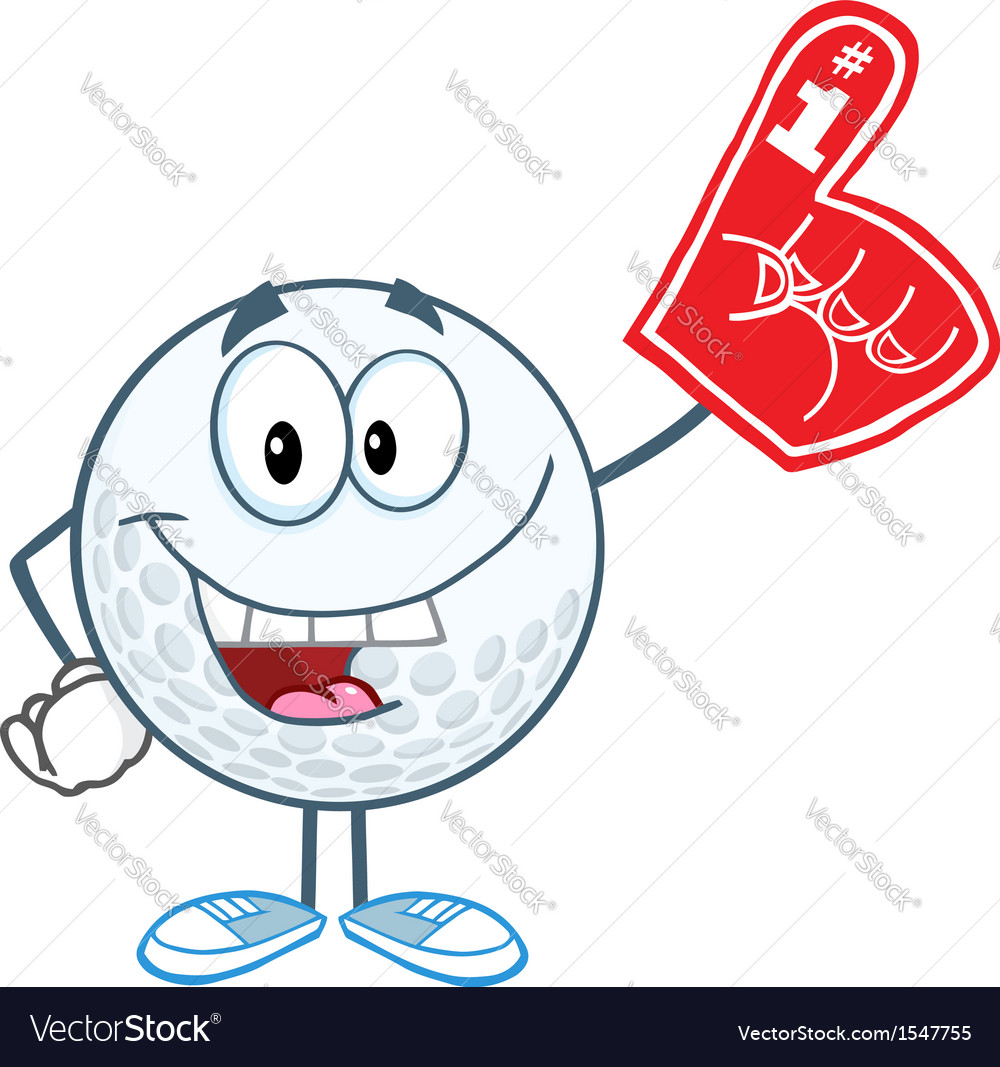 Golf ball with foam finger vector | Price: 1 Credit (USD $1)