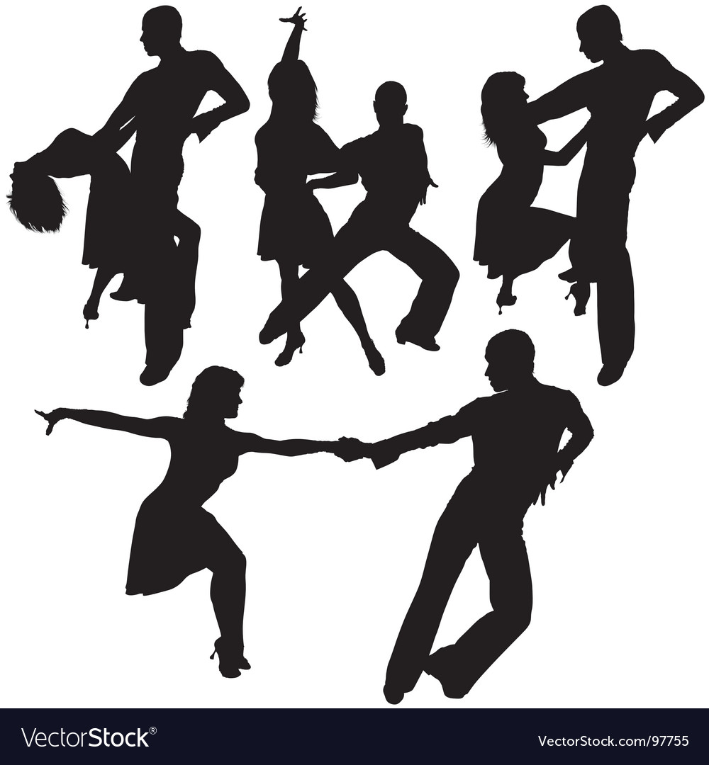Latino dance silhouettes vector | Price: 1 Credit (USD $1)