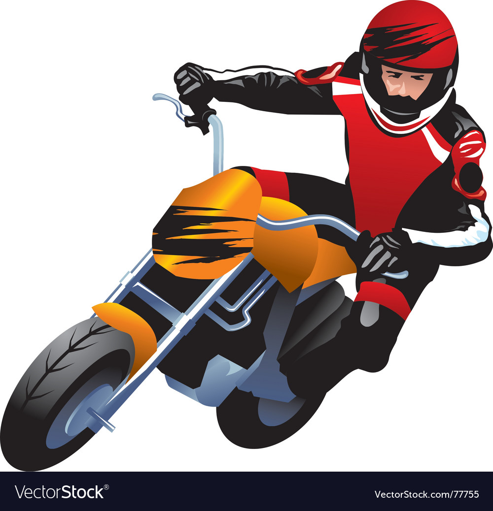 Motorcycle racer vector | Price: 1 Credit (USD $1)