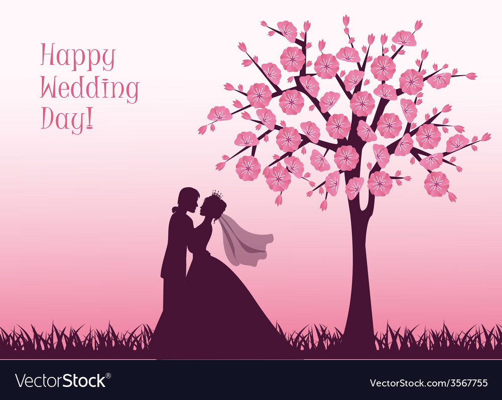 Silhouettes of the bride and groom vector | Price: 1 Credit (USD $1)