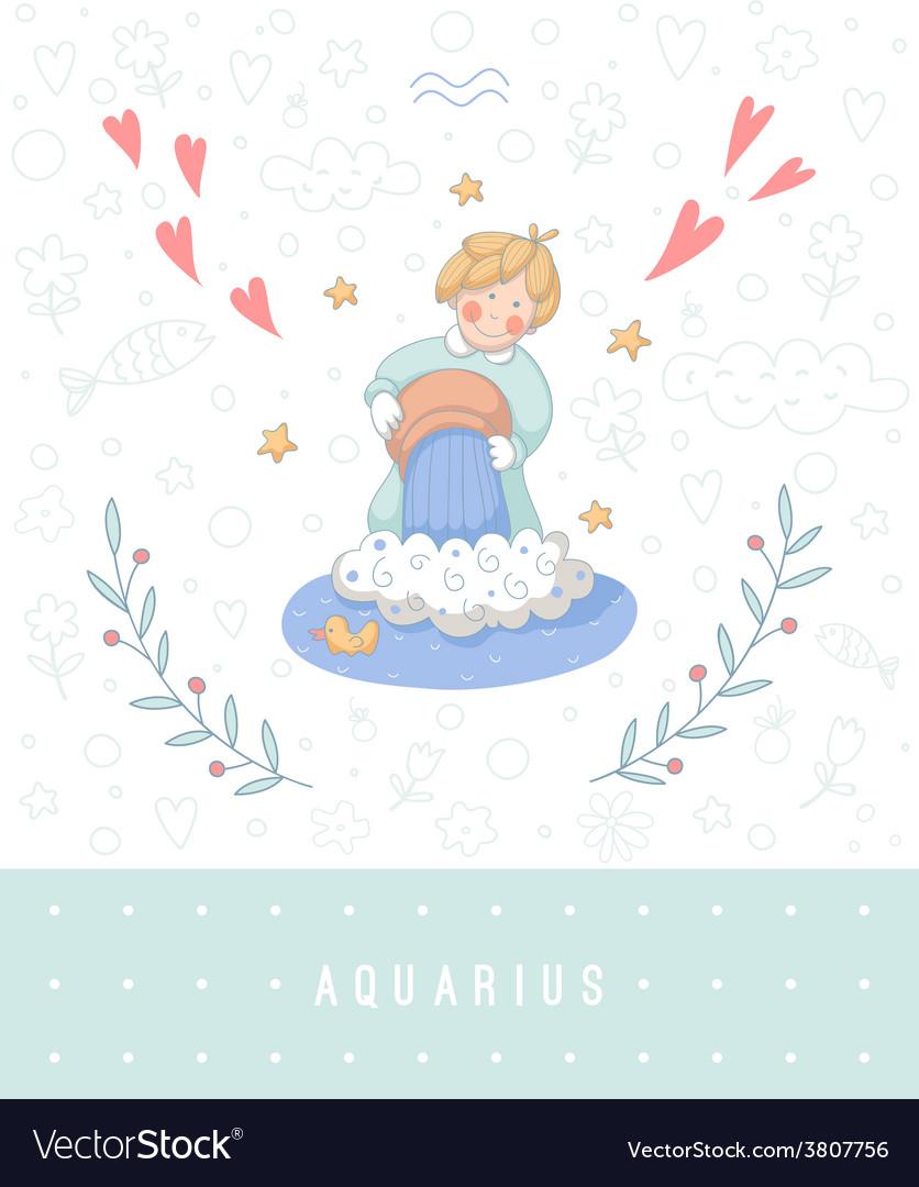 Cartoon of the water-bearer aquarius vector | Price: 1 Credit (USD $1)