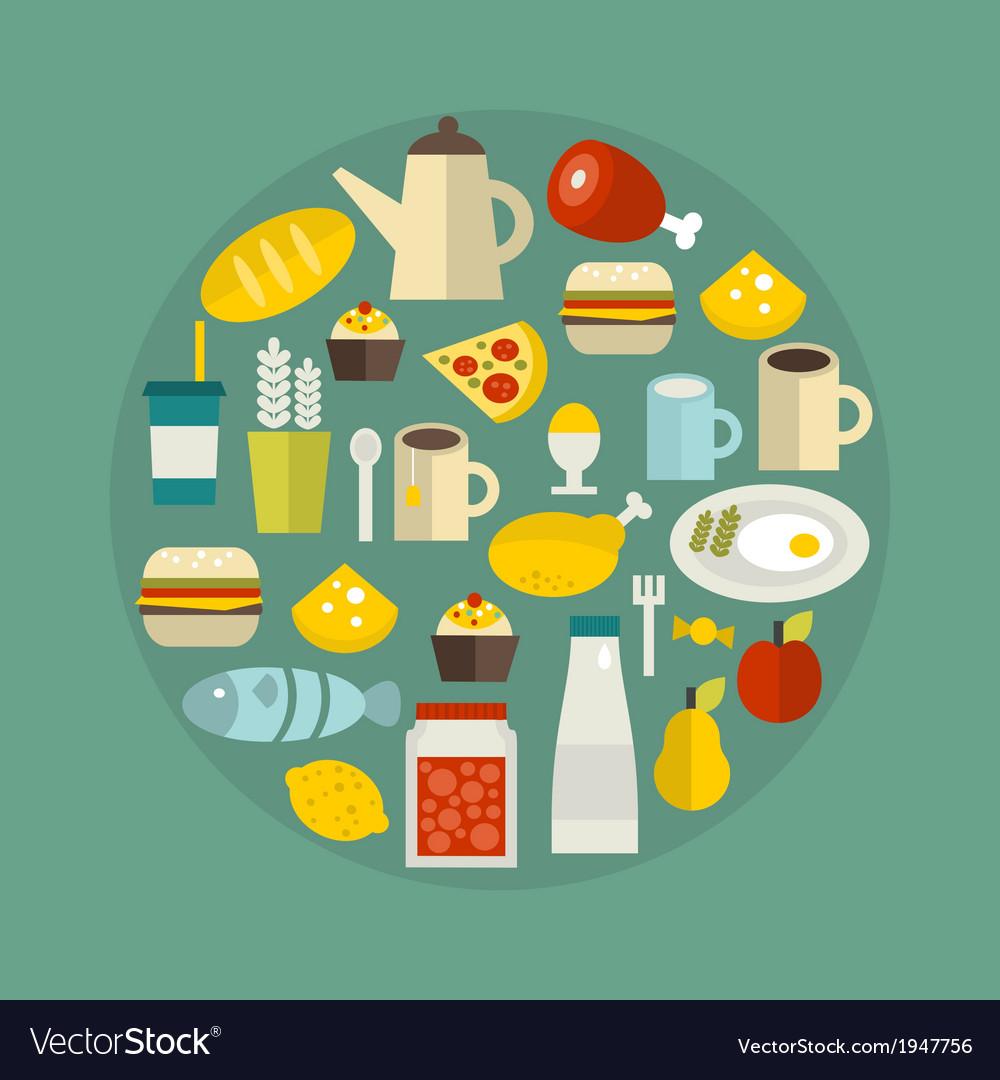 Food circle vector | Price: 1 Credit (USD $1)