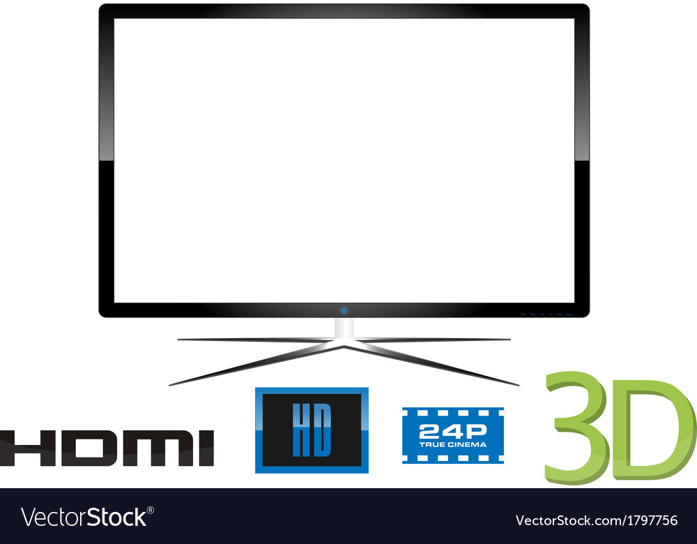 Led television - design vector | Price: 1 Credit (USD $1)