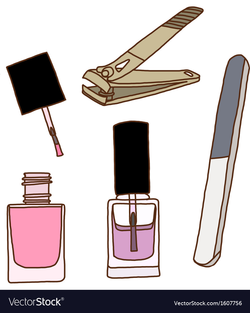 Nail care and polish vector | Price: 1 Credit (USD $1)