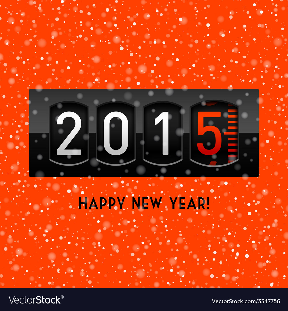 New year 2015 counter vector | Price: 1 Credit (USD $1)