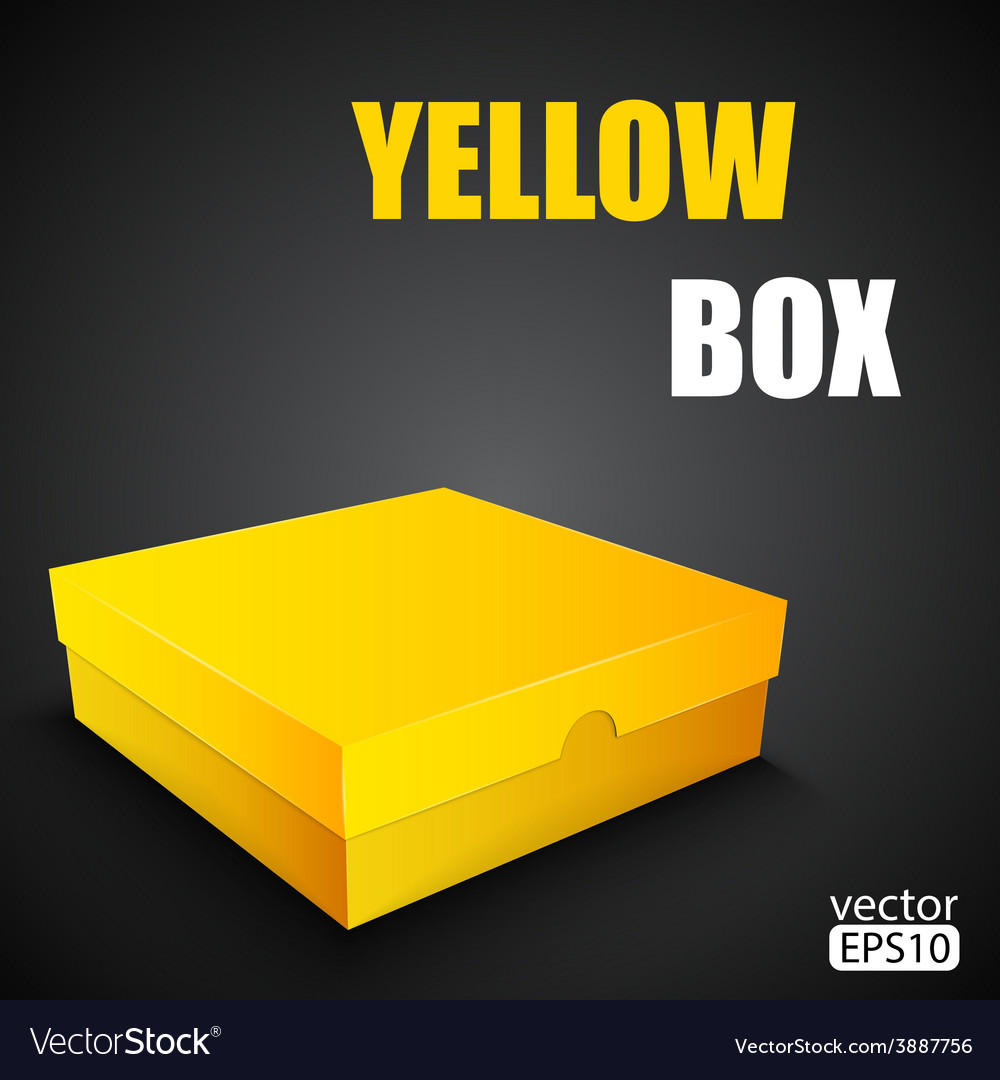 Package yellow box design vector | Price: 1 Credit (USD $1)
