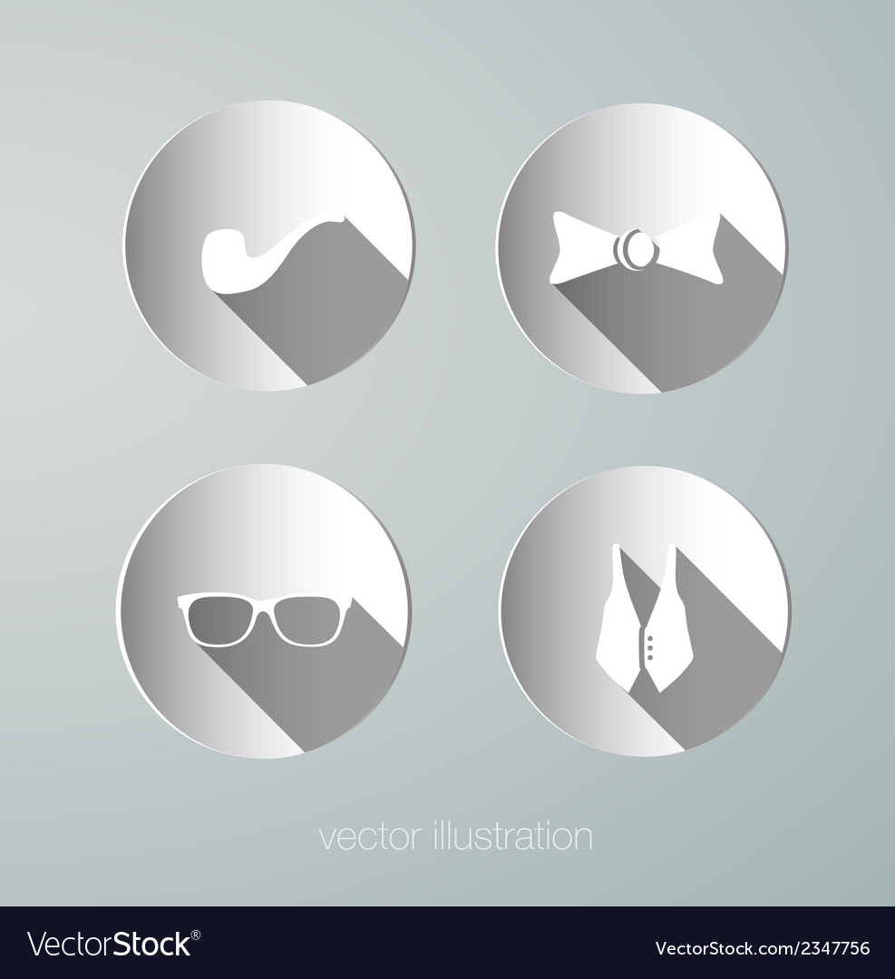 Paper hipster icons vector   Price: 1 Credit (USD $1)