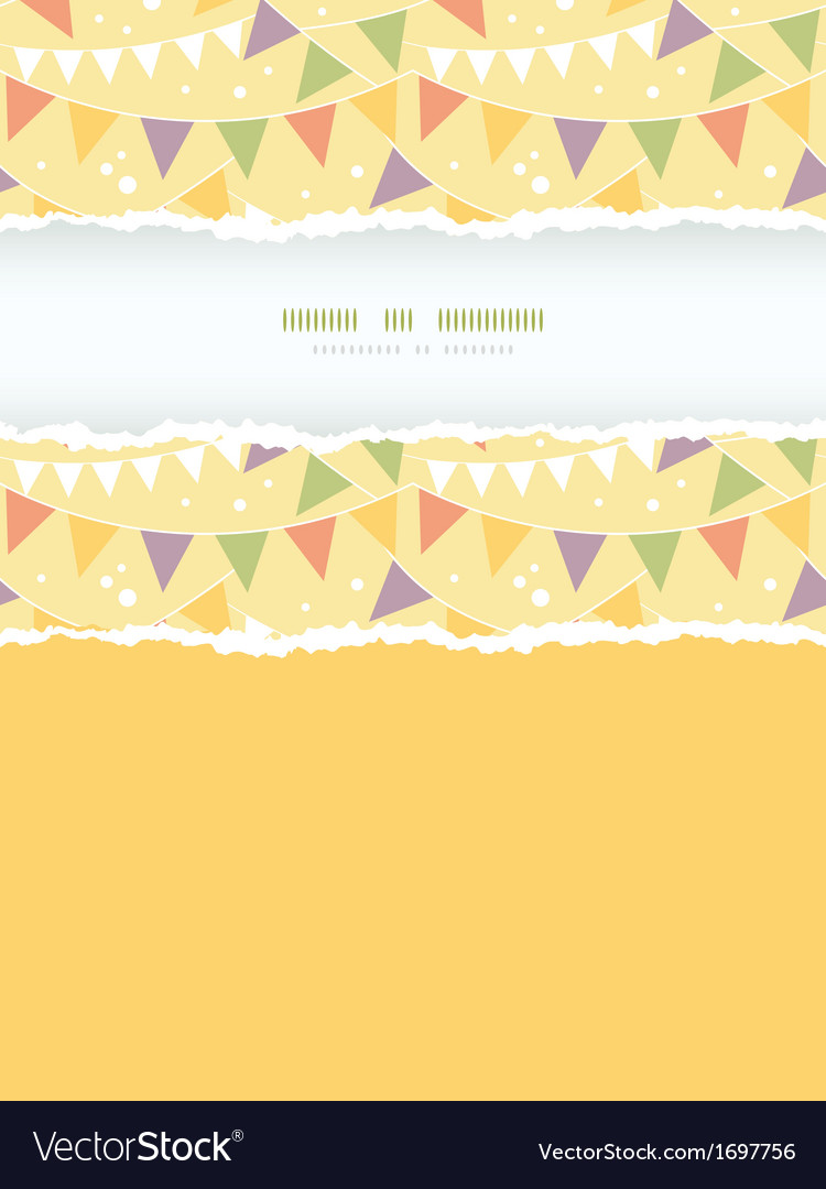 Party decorations bunting vertical torn frame vector | Price: 1 Credit (USD $1)