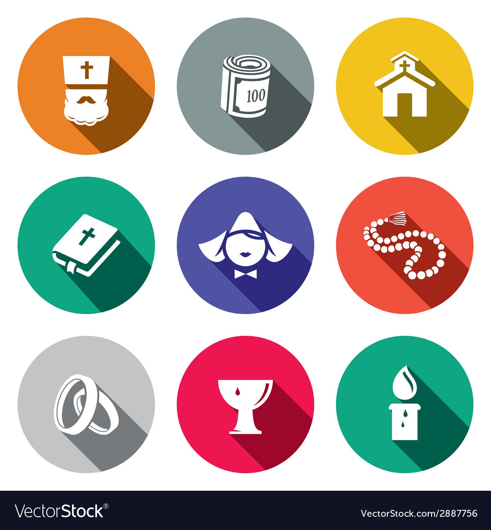 Religion icon collection vector | Price: 1 Credit (USD $1)