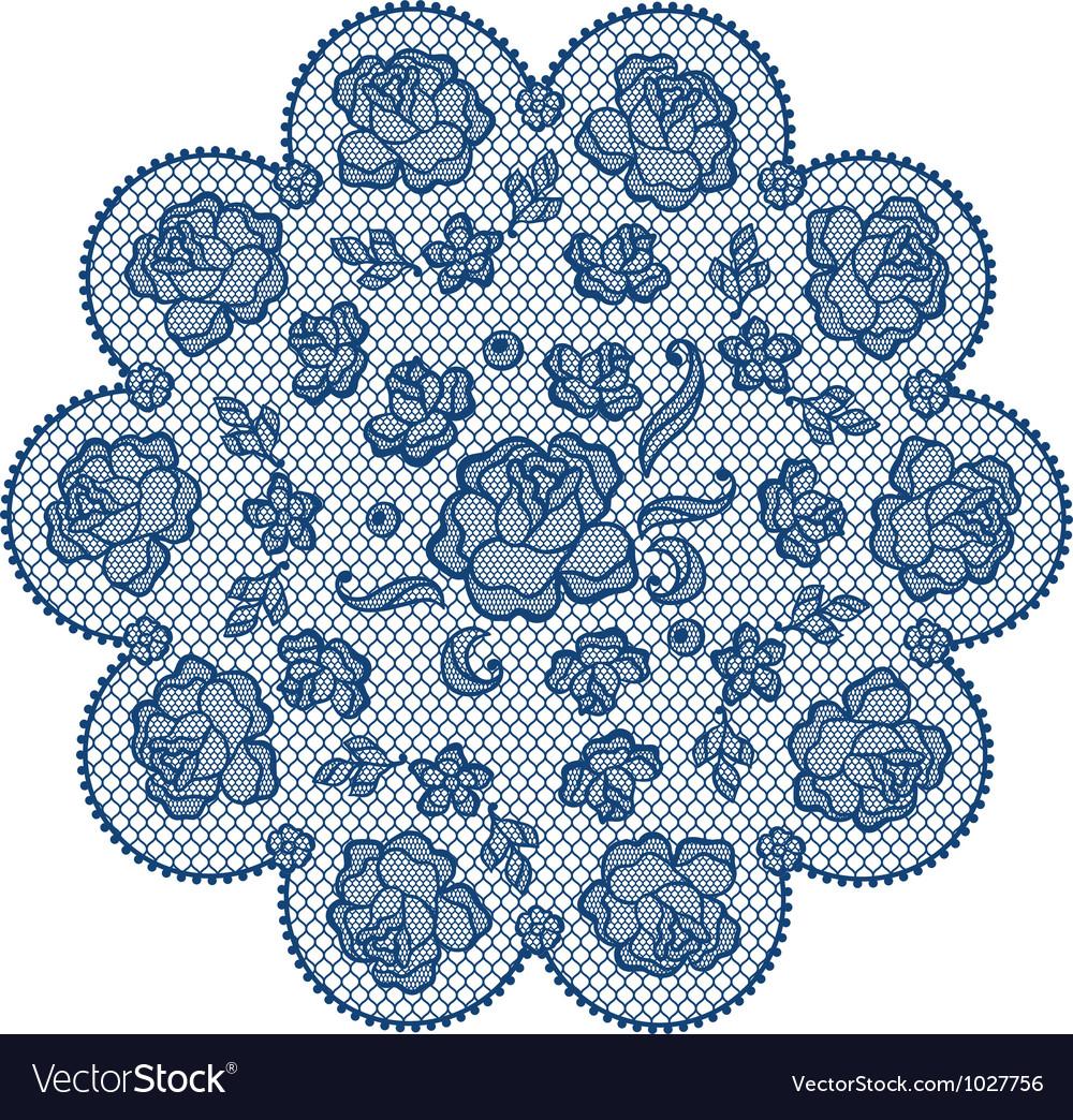 Vintage lace element ornamental flowers texture vector | Price: 1 Credit (USD $1)