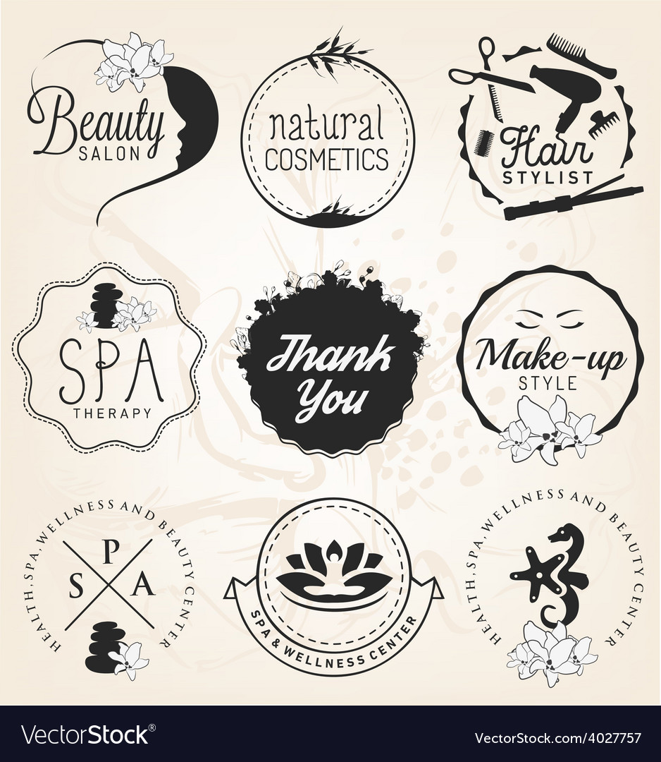 Beauty salon spa and wellness design elements vector | Price: 1 Credit (USD $1)