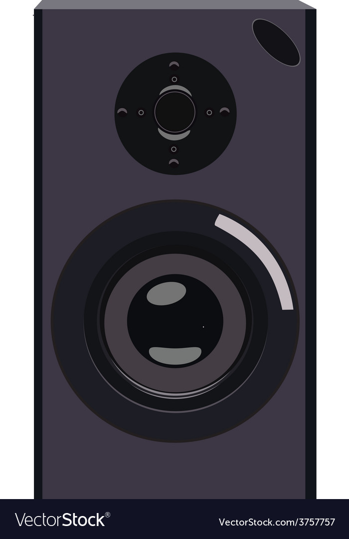 Black speaker vector | Price: 1 Credit (USD $1)