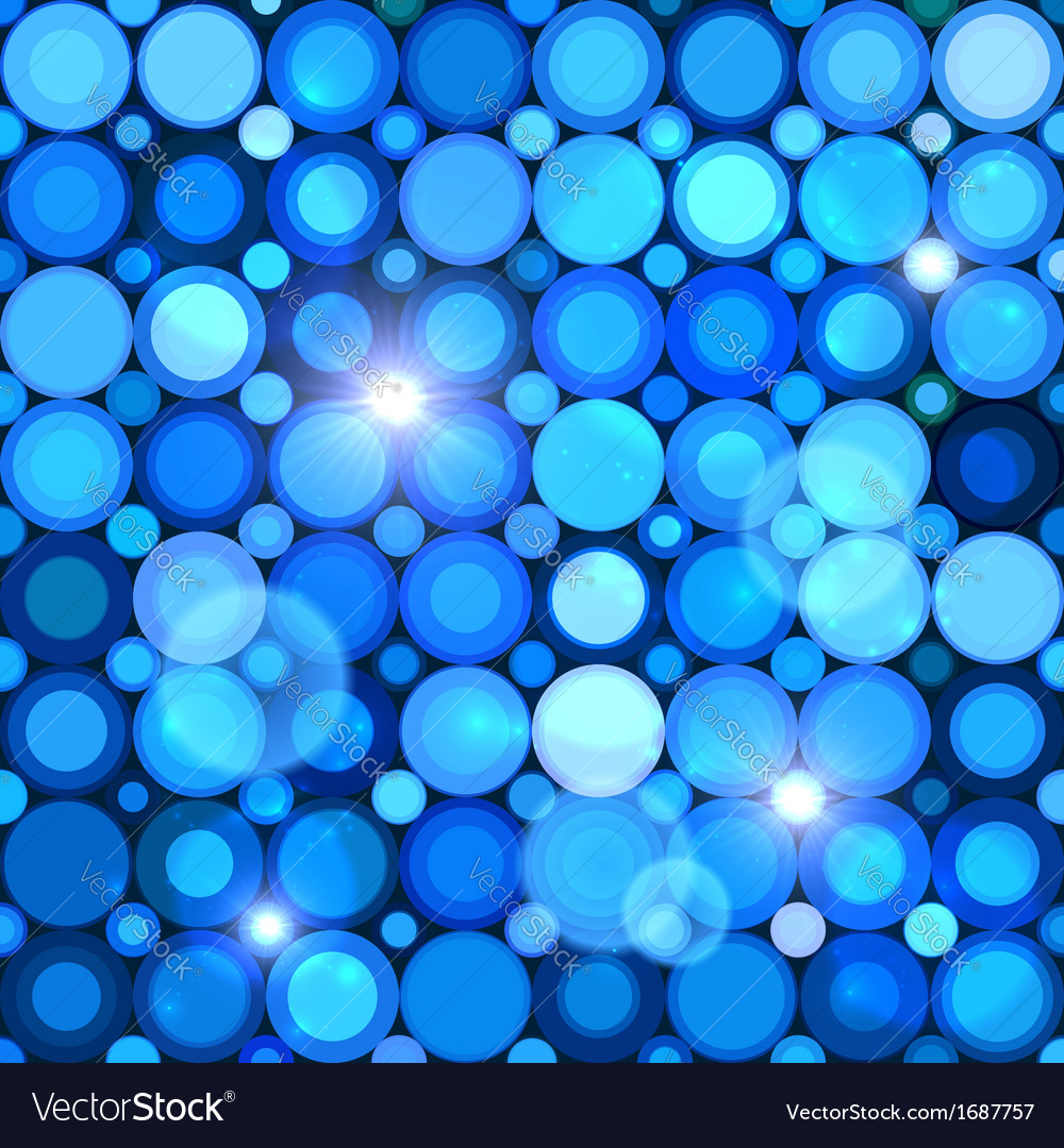 Blue abstract shining dots seamless pattern vector | Price: 1 Credit (USD $1)