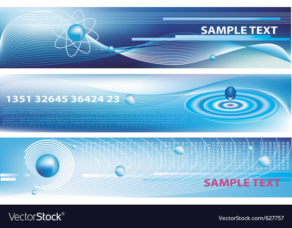 Blue business banners vector | Price: 1 Credit (USD $1)