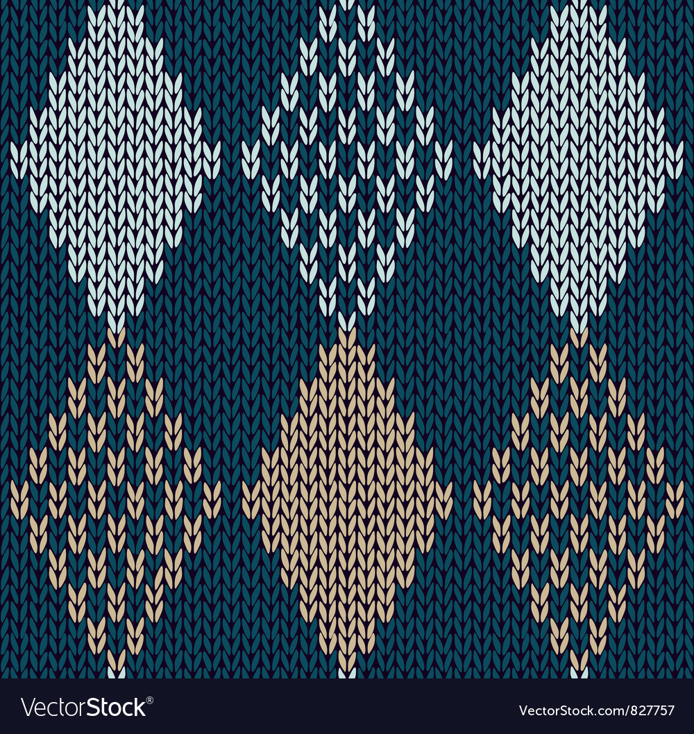 Blue color knitted ornament vector | Price: 1 Credit (USD $1)