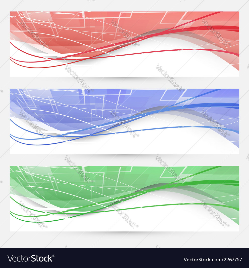Bright swoosh lines geometrical web elements vector | Price: 1 Credit (USD $1)