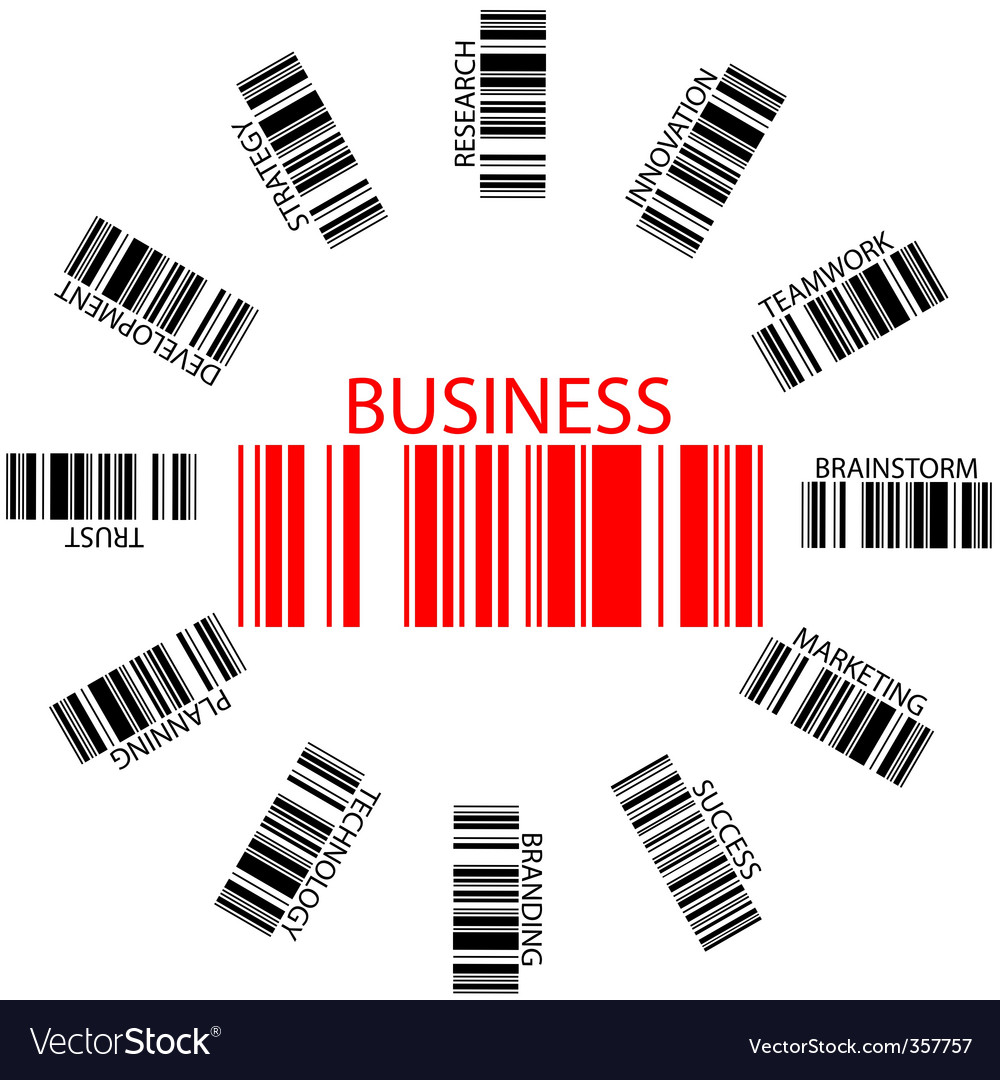 Business bar codes vector | Price: 1 Credit (USD $1)