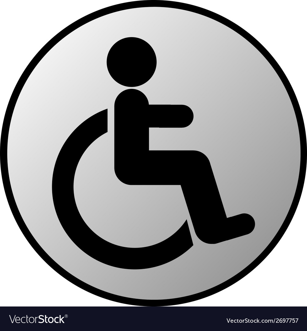 Disabled sign button vector | Price: 1 Credit (USD $1)